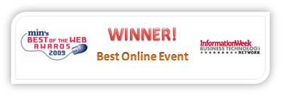 Winner of Best Virtual Tradeshow and Online Event: InformationWeek Business Technology Network