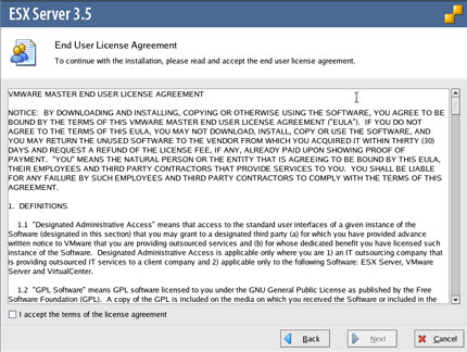 Step 9: End User License Agreement