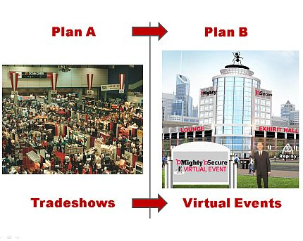 "Plan A: Trade Shows <font color=""#ba2124"">