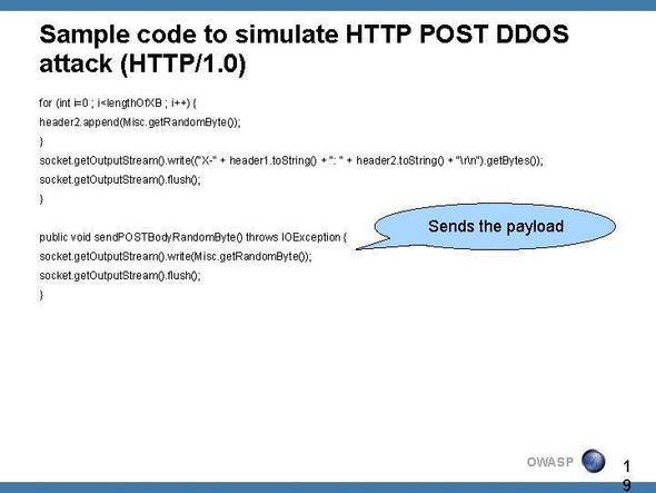 Slide Show: DDoS With The Slow HTTP POST Attack