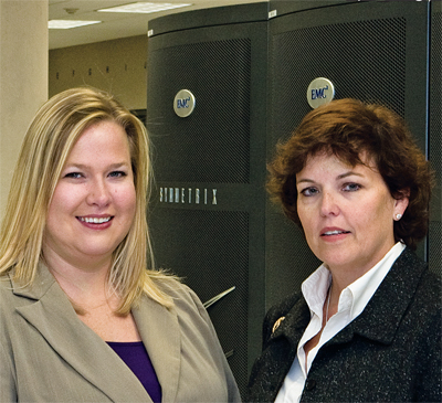 Eileen Seen (right), Director of Claims Operations, and Hillary Pruitt, Claims Resource Specialist, Alfa Insurance