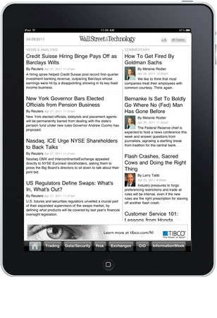 Bank Sytems & Technology on the iPad App screenshot