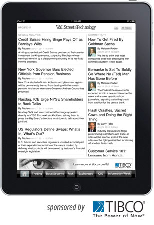 Wall Street & Technology iPad App screenshot