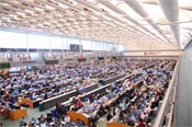 UBS trading floor, located in in Stamford, Conn., has 1,400 seats managing more than 370,000 transactions a day worth $1 trillion.
