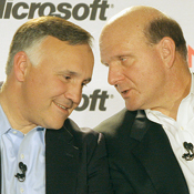Friends like these: Hovsepian and Ballmer in better days