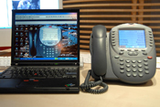 Avaya's IP softphone, which resides virtually on a PC unlike a physical phone