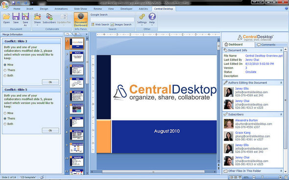 PowerPoint Collaboration Using Central Desktop