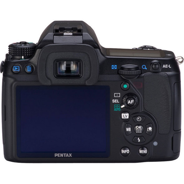 Pentax K-5 DSLR Camera Top View 
