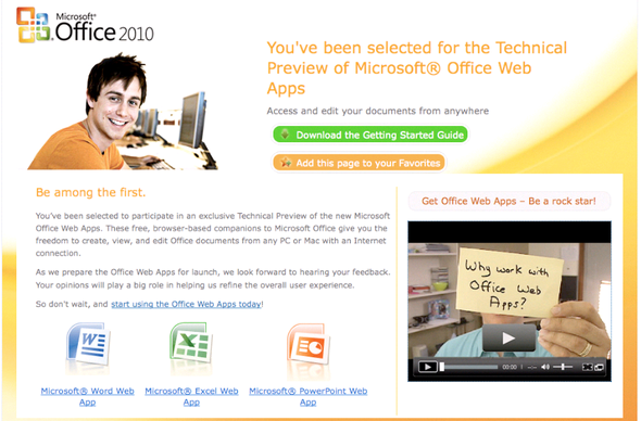 Image Gallery: Microsoft's Office Web Apps