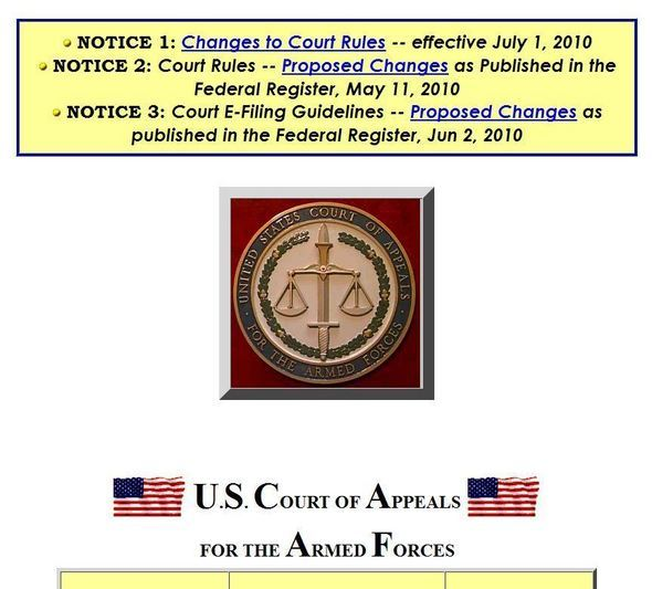 U.S. Court Of Appeals For The Armed Forces