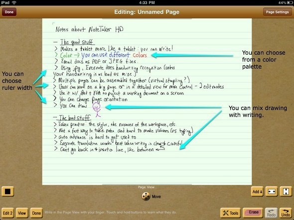 Slideshow: Note Taker HD Puts The 