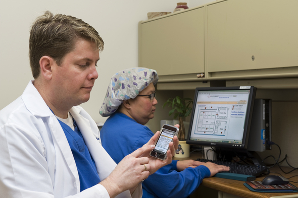 Clinicians Using Awarepoint Location Monitoring