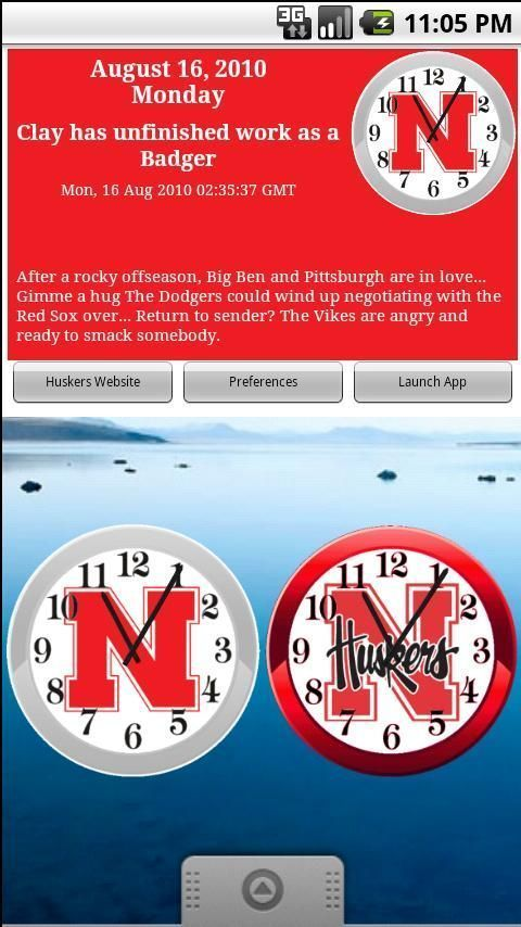 Huskers Football Clocks &amp; News