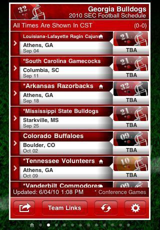 SEC Football Edition For My Pocket Schedules