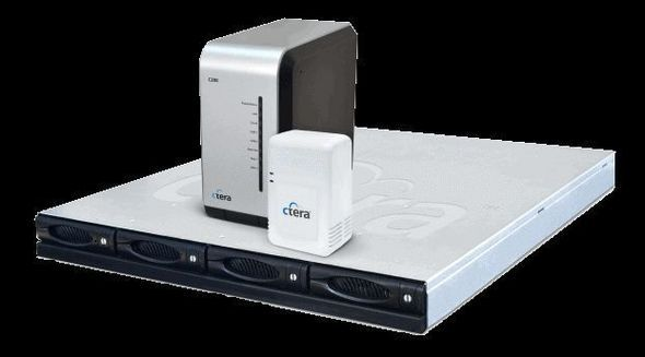 Ctera C400, C200 And CloudPlug Side View