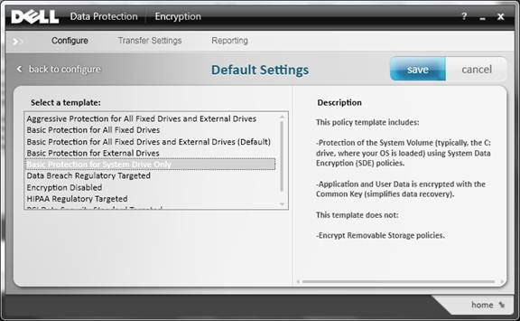 Dell Data Protection Encryption Local Managed Console