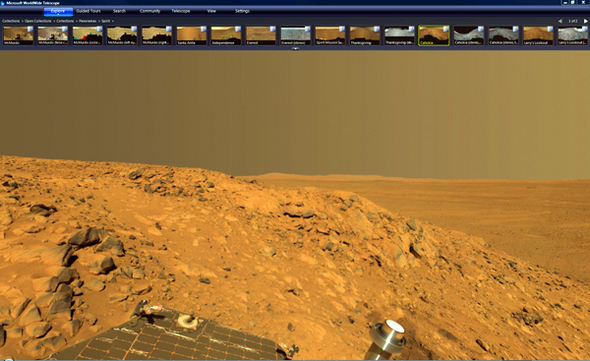 Mars Surface In Panorama