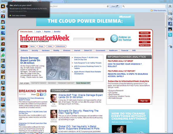 RockMelt Social Web Browser Revealed