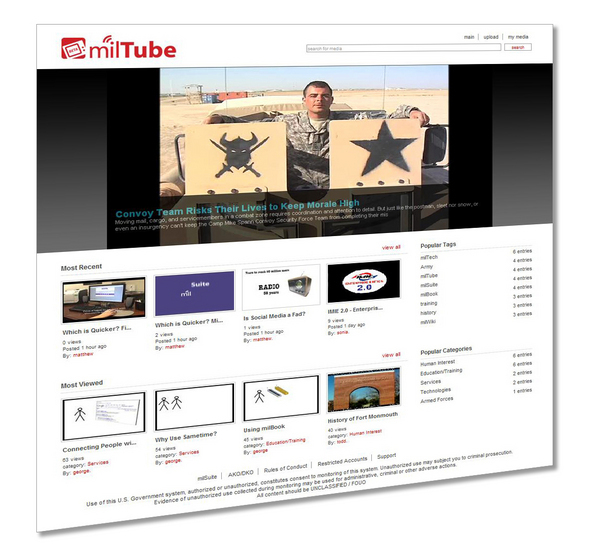MilTube Video Sharing Website