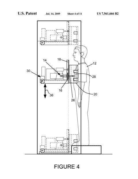 Martin Annis's  Patent 7,561,666, Personnel x-ray inspection system 