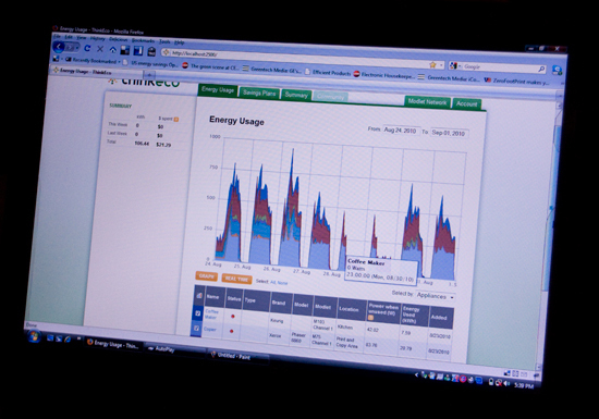 The Modlet software monitors energy vampires