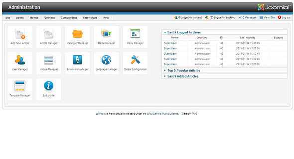 Revamped Administration Interface