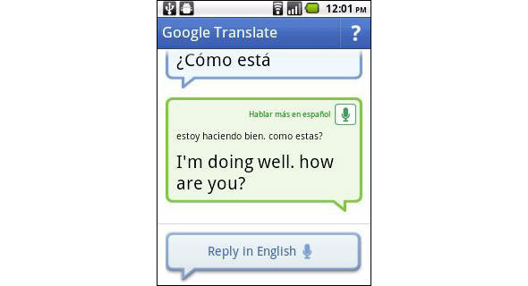Real Time Conversation With Google Translate