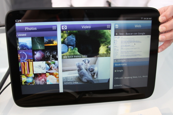Intel Showcases MeeGo Tablet UI And Other Apps