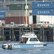 Patrol boat, Seattle seaport