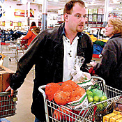 Sam's Club customers are likely to get RFID tags on cases of products. -- Photo by Milbert Brown/Chicago Tribune