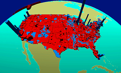 ESRI graphically presented voting results on Election Day.