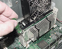 Newer systems rarely require removal of the CPU/heat sink assembly, but our ancient test system is actually toward the