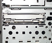 Check the front before replacing the bezel.