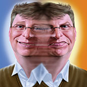 Ilustration of Bill Gates by Dale Stephanos