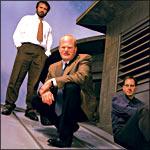 Sustainable Computing Consortium -- William Guttman (center), Ashish Arora (left), Bill Scherlis -- Photo by Bill Cramer