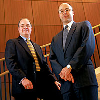 Patrick Swanick and Bob Rickert -- Photo by Russell Lee