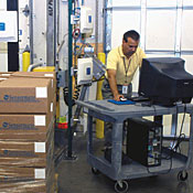ADT's application lets companies conduct test-runs of pallet scanning.