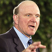 Microsoft uses different approaches for small and large companies, Microsoft CEO Steve Ballmer says. Photo courtesy of Bloomberg News.