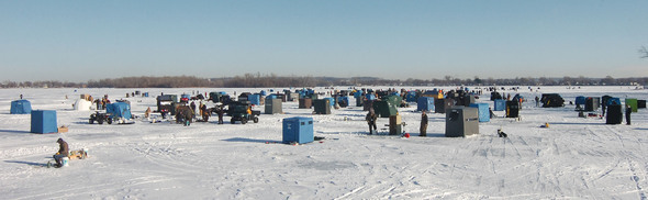 Winterfest Ice Fishing Derby at nearby Lake Manawa.