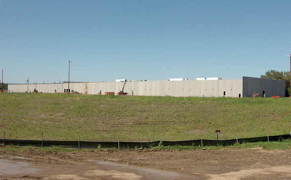 Exterior walls in place.