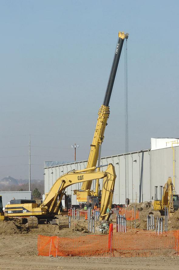 Exterior infrastructure requires digging.