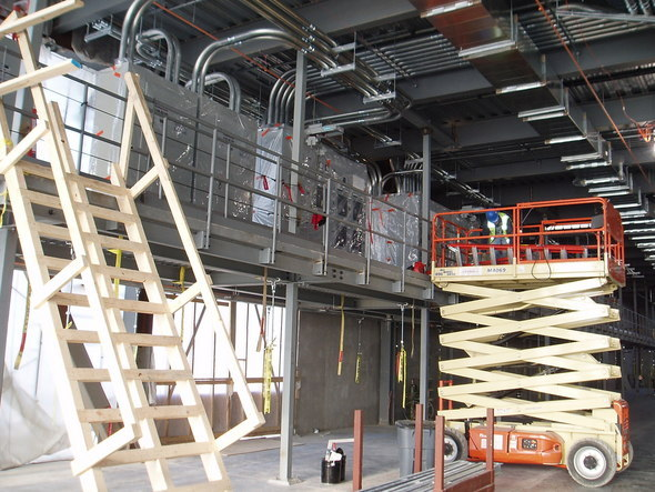 Microsoft's Chicago data center is just beginning to get into shape.