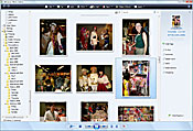 Vista's Picture Gallery deals well with importing, tagging, and processing thousands of images or more at once.