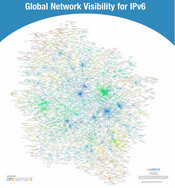 IPv6 Growth. This image, from April 2008, shows the growth of IPv6 nodes. Also centered in Japan, the number of nodes increased to 6,132.