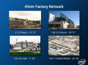 Four chip-manufacturing fabs are ramping up to produce 45-nm processors..