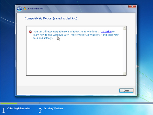 Error en Windows 7