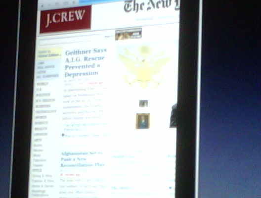 The Tablet Looking At A Web Page