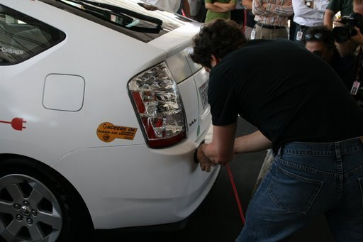plugging in the google prius plug-in