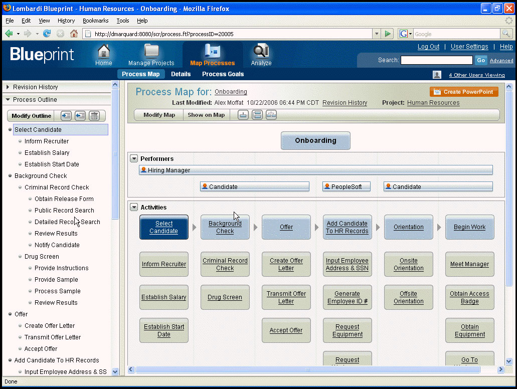 Lombardi blueprint eases the path to bpm informationweek you link each step with a performer role blueprint automatically creates the diagram in the main window of the interface malvernweather Choice Image