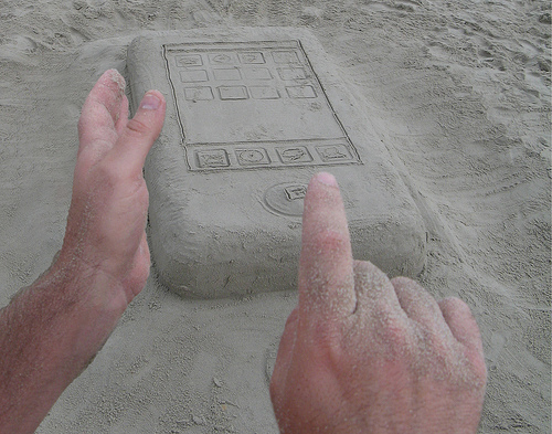 iPhone made of sand
